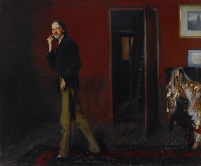 Retrato de Louis Stevenson y su mujer