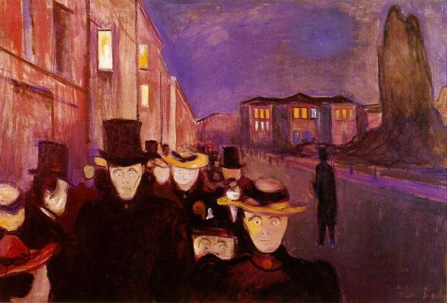 De noche en la Calle Karl Johan
