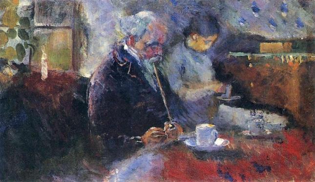 En la mesa de café