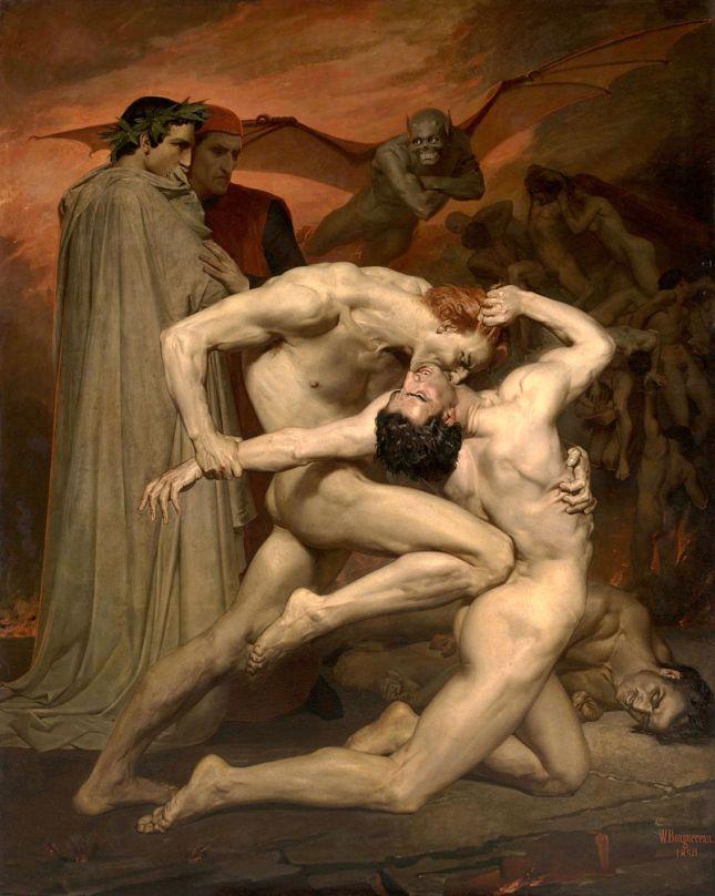 Dante y Virgilio en el Infierno