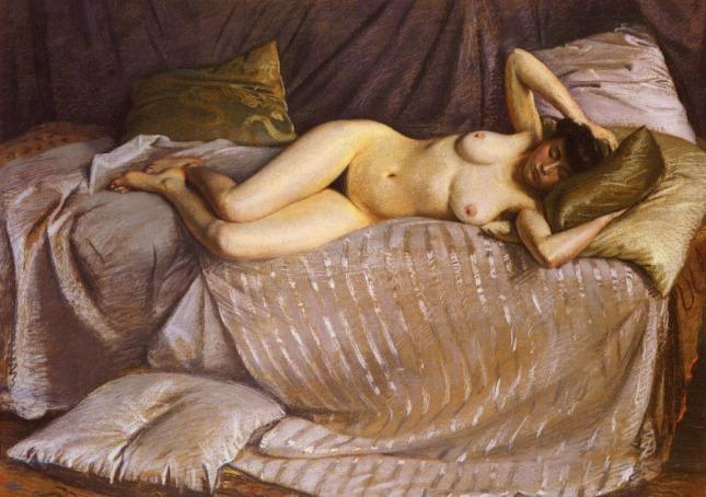 Desnudo en un sofá