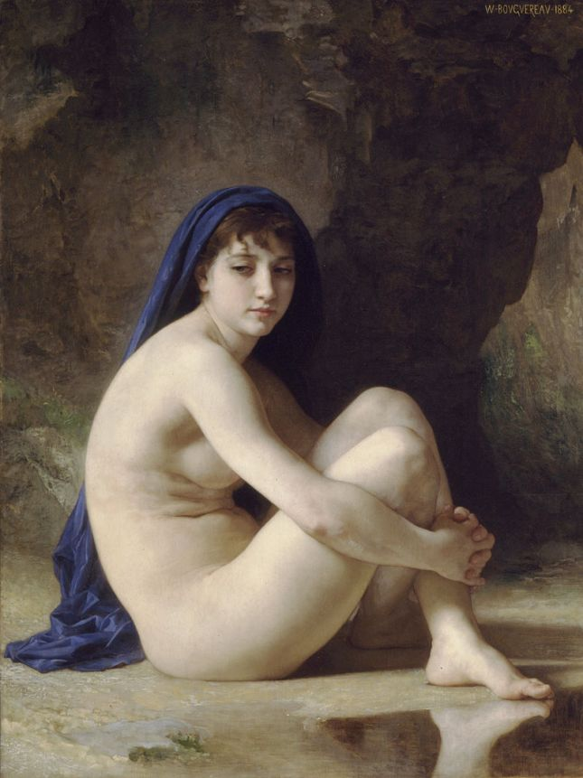Desnudo sentado