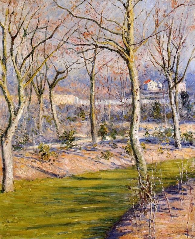 Jardín de Gennevilliers en invierno