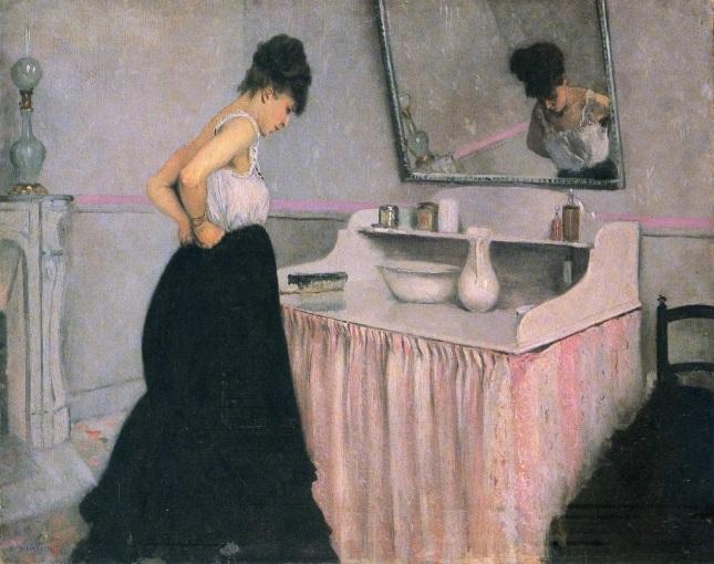 Mujer en el tocador
