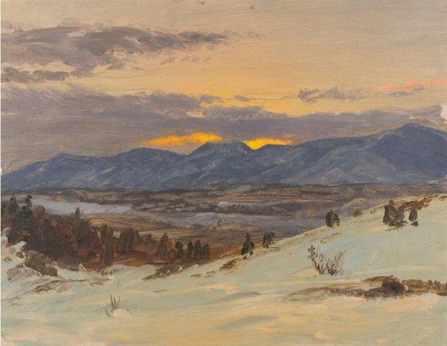 Crepúsculo invernal en Olana