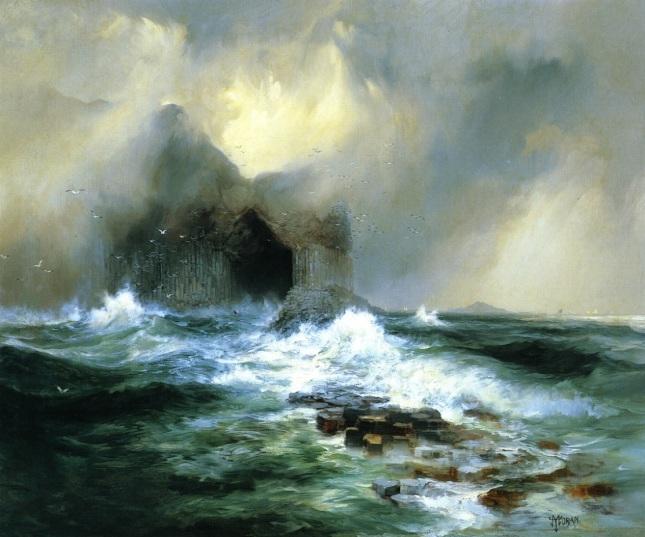 Gruta de Fingal en el Islote de Staffa, Escocia