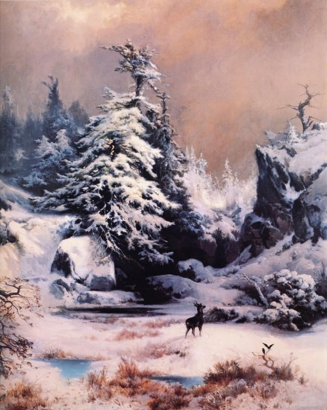 Invierno en las Montañas Rocosas