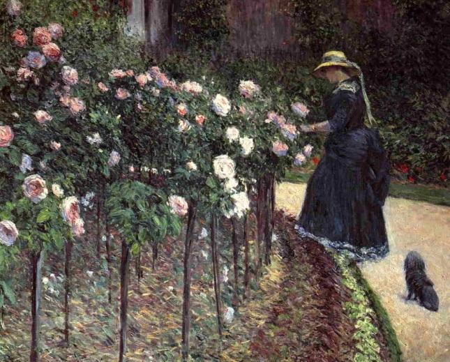 Rosas en el jardín de Petit Gennevilliers