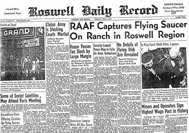Roswell Daily Record, 8 de Julio de 1947