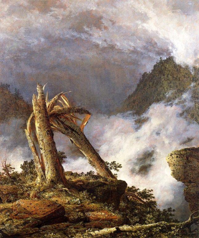 Tormenta en las montañas