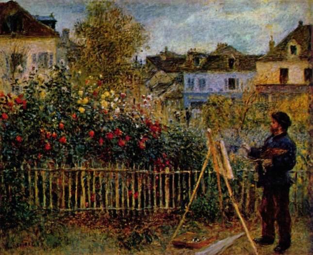 Claude Monet pintando en su jardín de Argenteuil