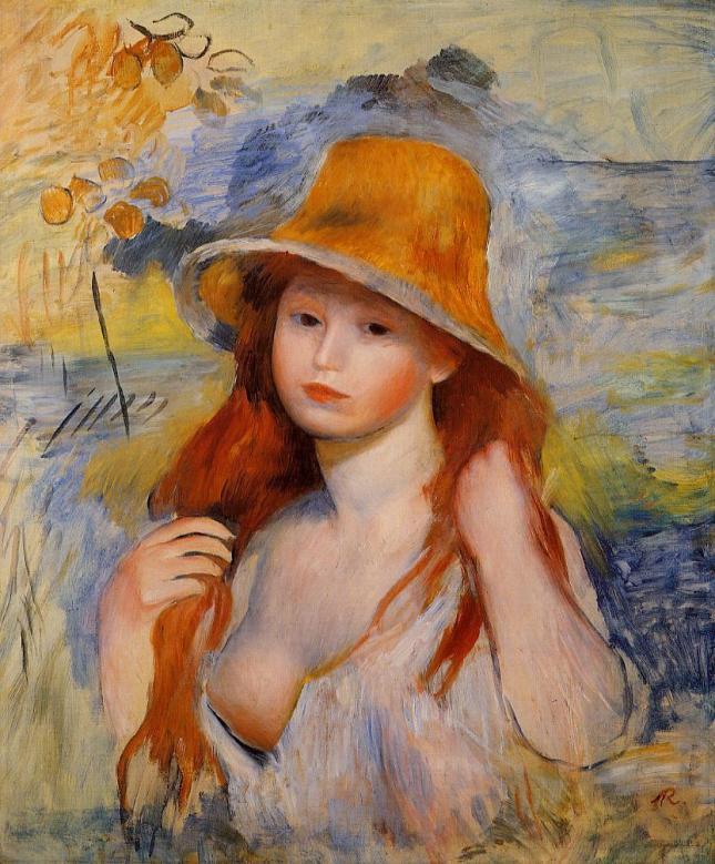 Muchacha con sombrero de paja