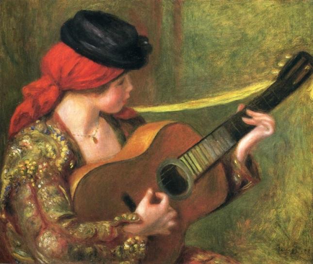 Muchacha española con guitarra