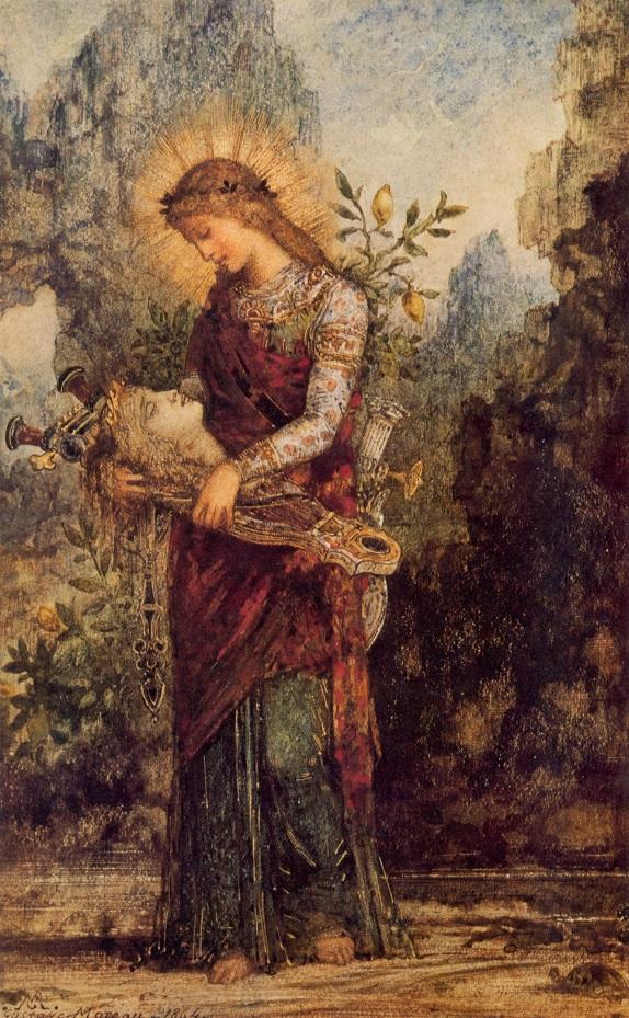 Mujer tracia portando la cabeza de Orfeo