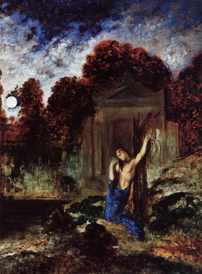 Orfeo en la tumba de Eurídice