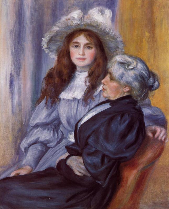 Retrato de Berthe Morisot y su hija Julie Manet