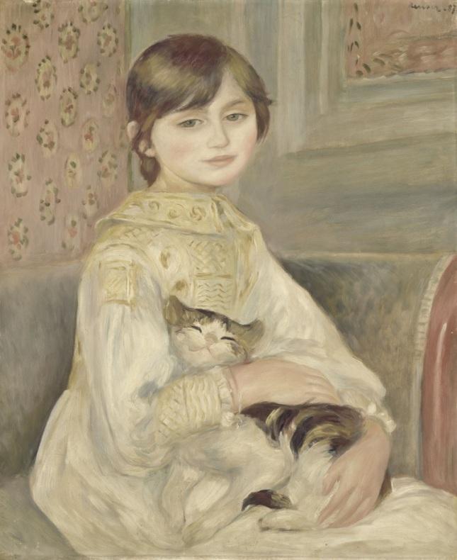 Retrato de Julie Manet con un gato