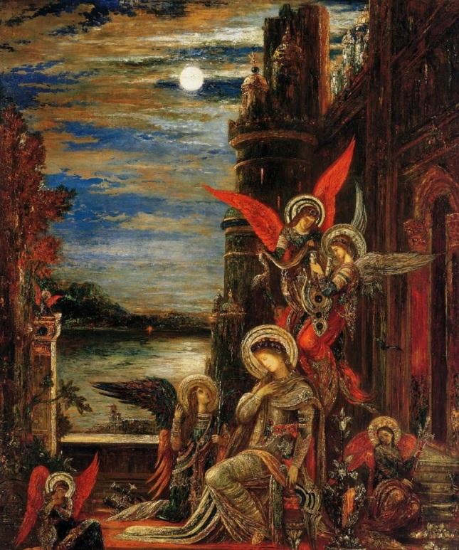 Santa Cecilia, los ángeles anunciando su próximo martirio