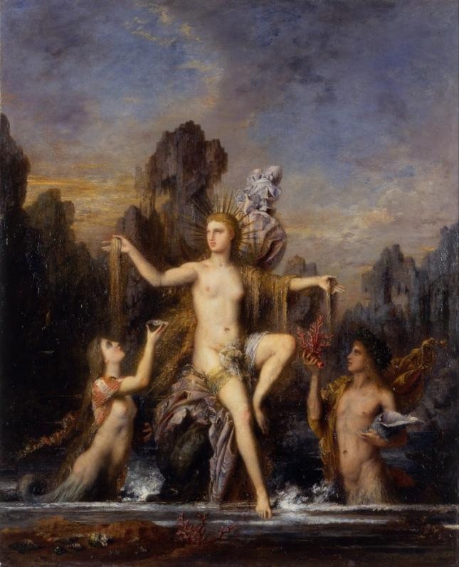 Venus emergiendo del mar