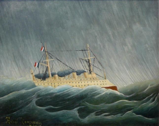 Buque entre la tormenta