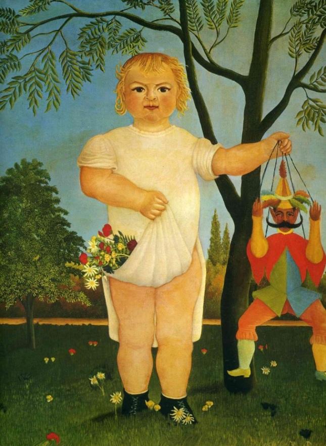 Niño con marioneta