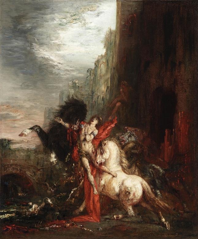 Diomedes devorado por sus caballos