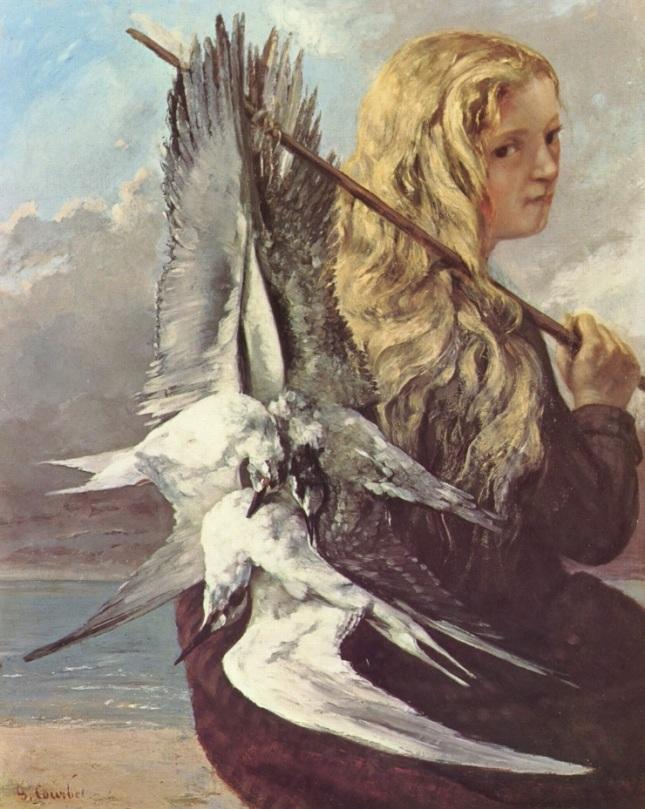 Chica con gaviotas