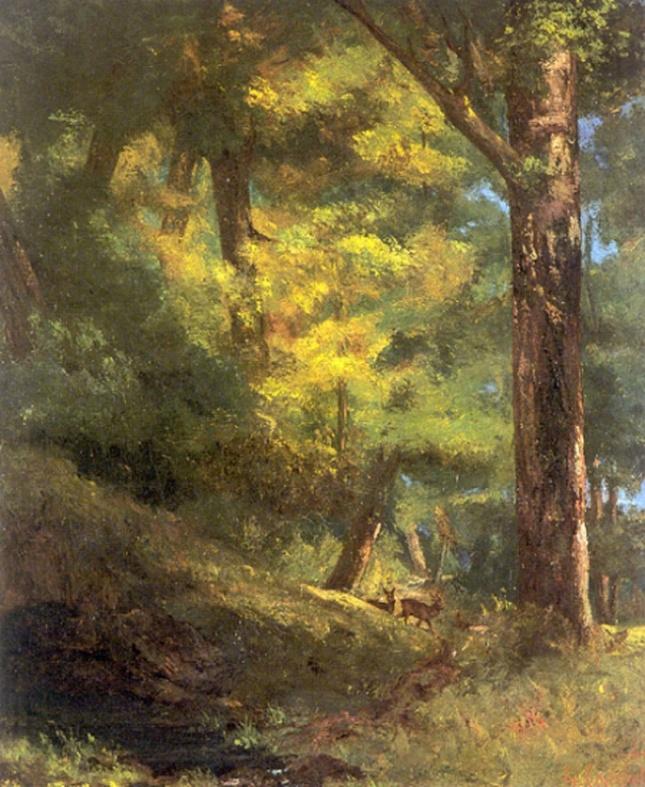 Dos corzos en el bosque