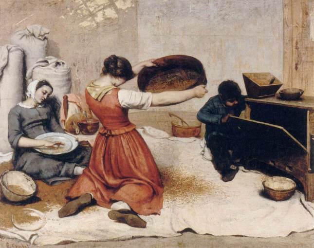 Las cribadoras de trigo
