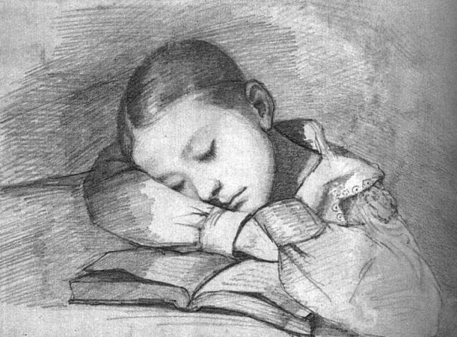 Retrato de Jueliette Courbet durmiendo