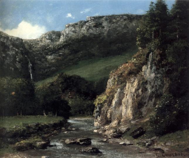 Torrente en las Montañas Jura