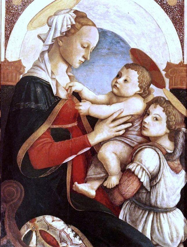 Virgen con el Niño y ángel