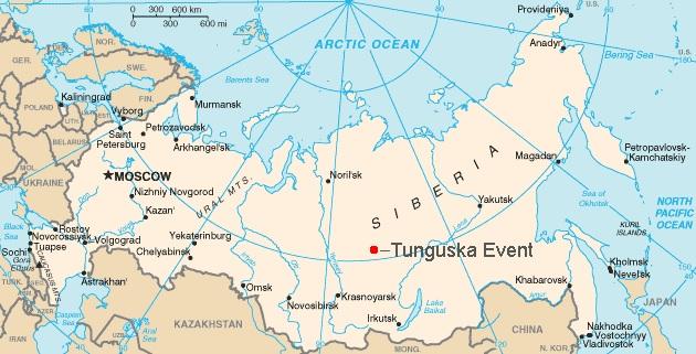 Tunguska lugar de impacto