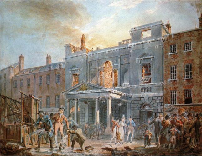 El Panteón, mañana tras el fuego