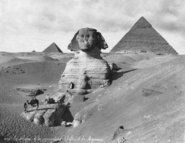 Esfinge y Pirámides (Circa 1867)