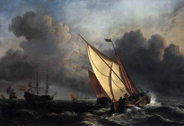 Pescadores holandeses en la tormenta