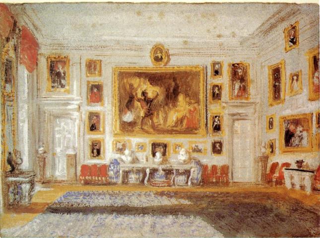 Petworth, salón de los dibujos