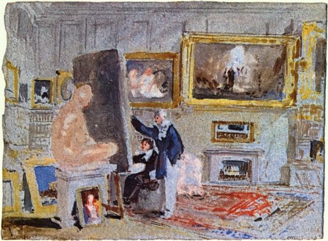 Pintor en el caballete