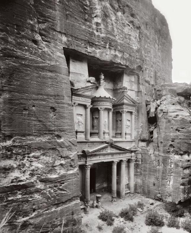 Templo de Al Khazneh en Petra (Circa 1900)