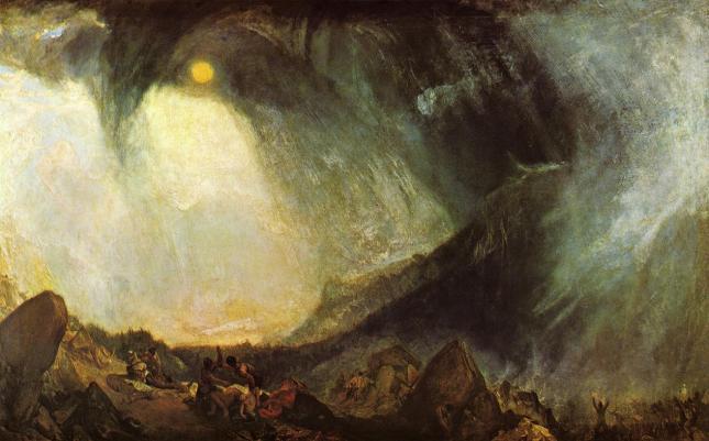 Tormenta de nieve, Aníbal y sus hombres cruzando los Alpes