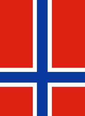Bandera de Noruega Black Metal