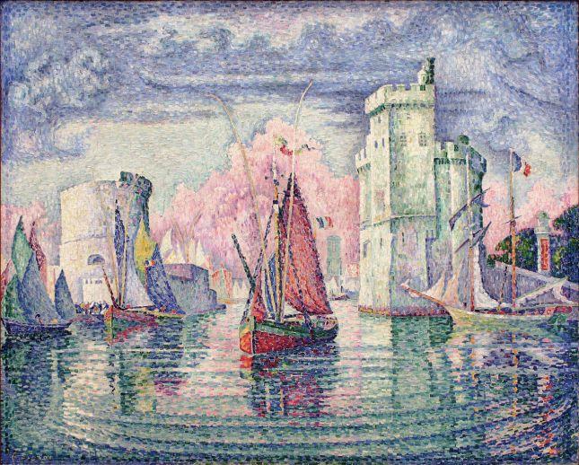 Entrada al puerto de la Rochelle