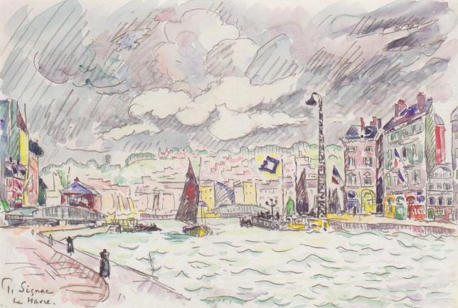 Le Havre con nubes de lluvia