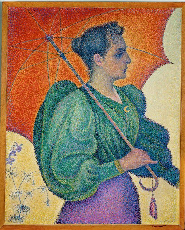 Mujer con paraguas