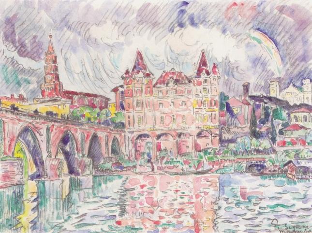 Vista de Montauban con lluvia