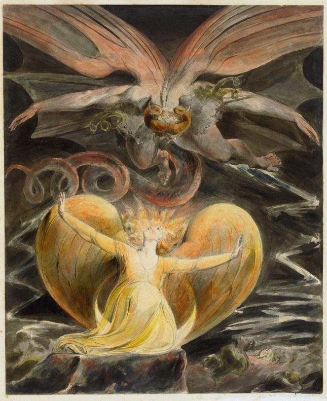 El Gran Dragón Rojo y la Mujer revestida con el Sol