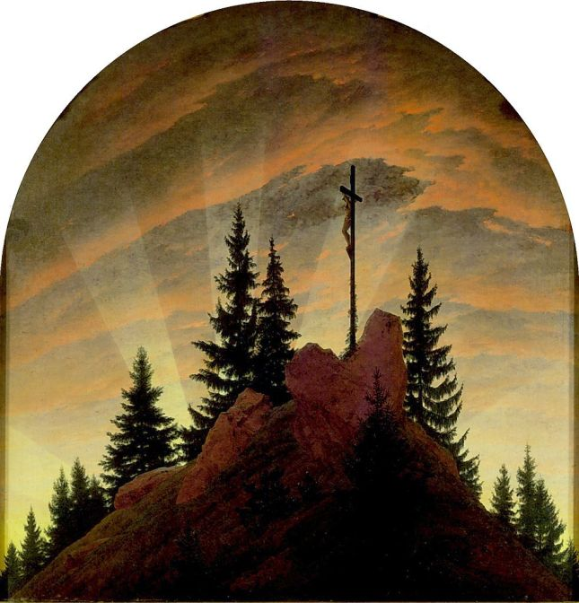 La cruz en la montaña