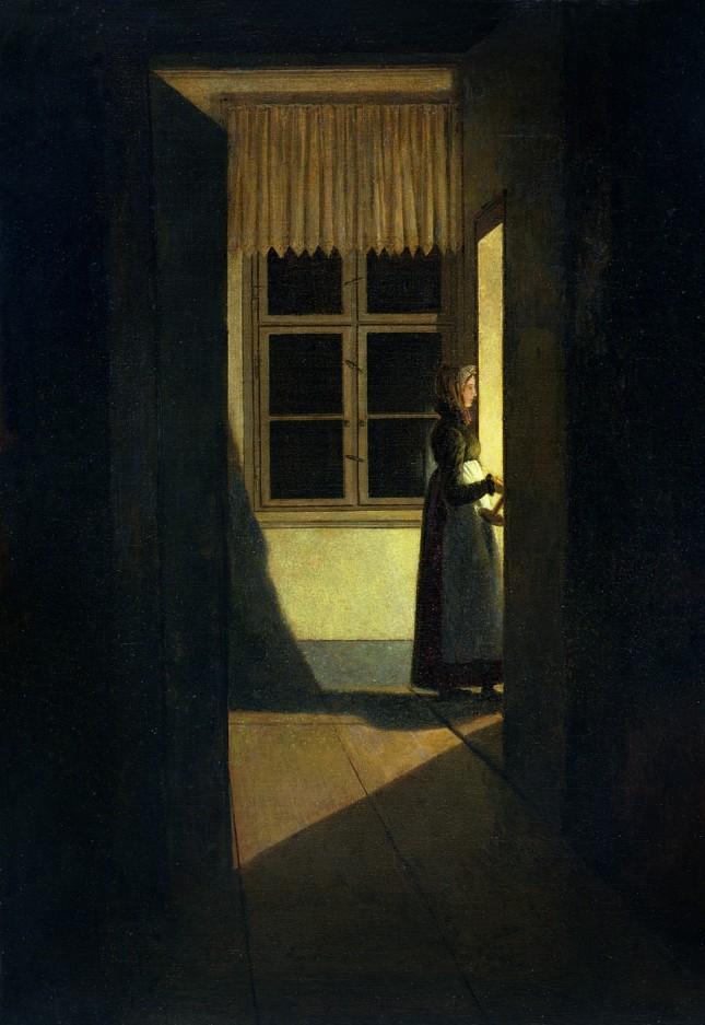 Mujer con candelabro