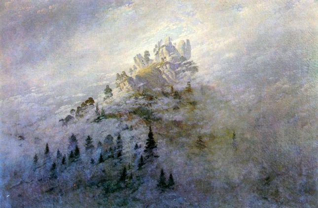 Niebla matinal en las montañas