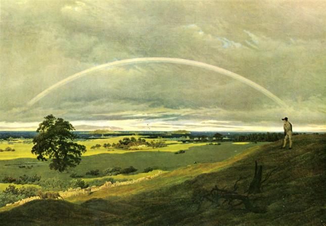 Paisaje con arco iris